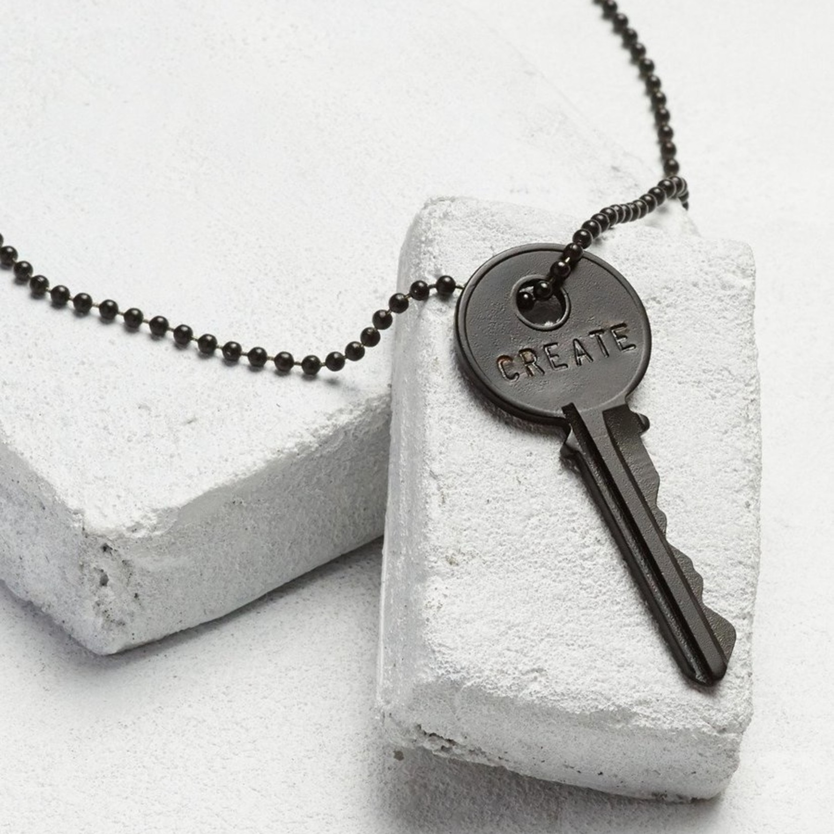 The Giving Keys Matte Black Key Necklace