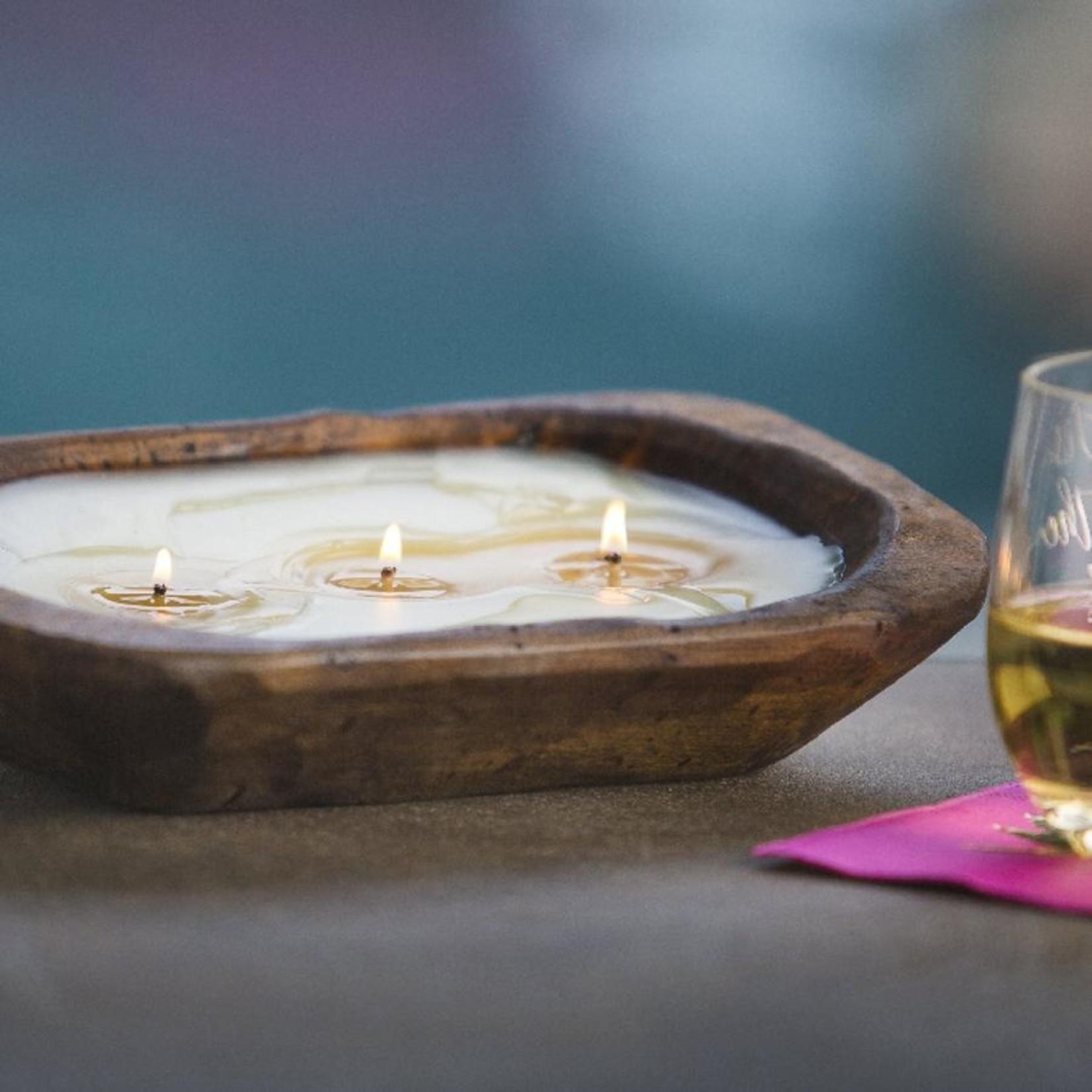 LUX Fragrances Citronella Citrus Fields Dough Bowl Candle