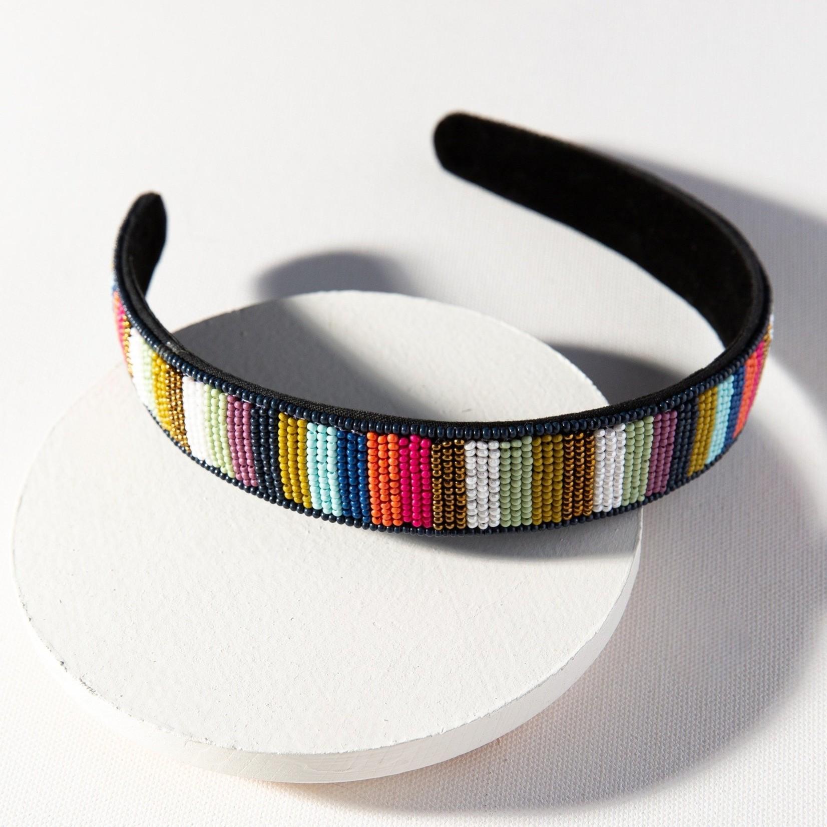 INK + ALLOY Seed Bead Headband