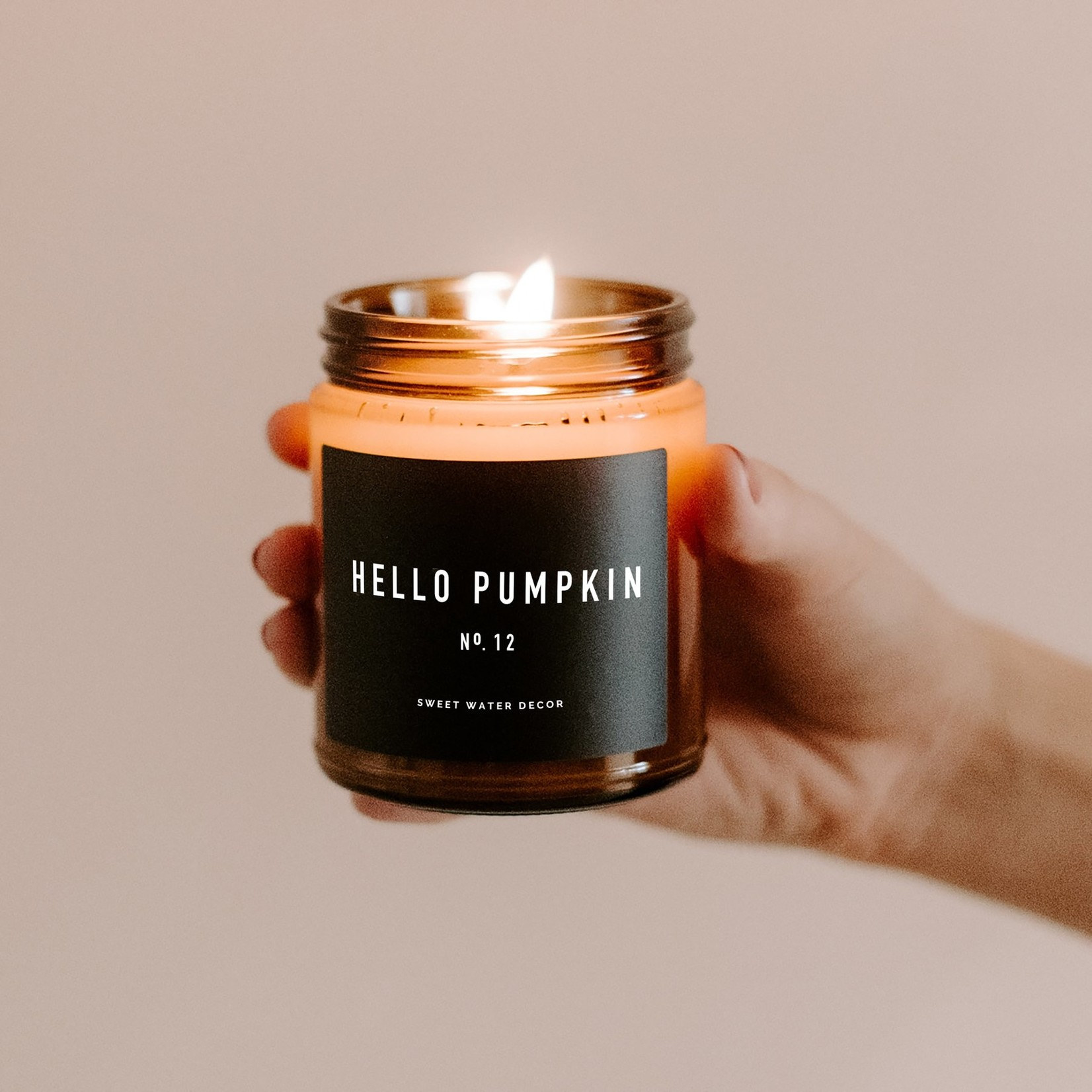 Sweet Water Decor Hello Pumpkin Soy Candle