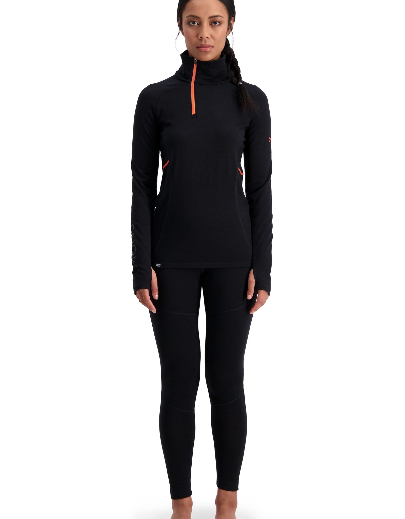 Mons Royale Mons Royale Olympus 3.0 Half Zip-Black-Women's -W2020