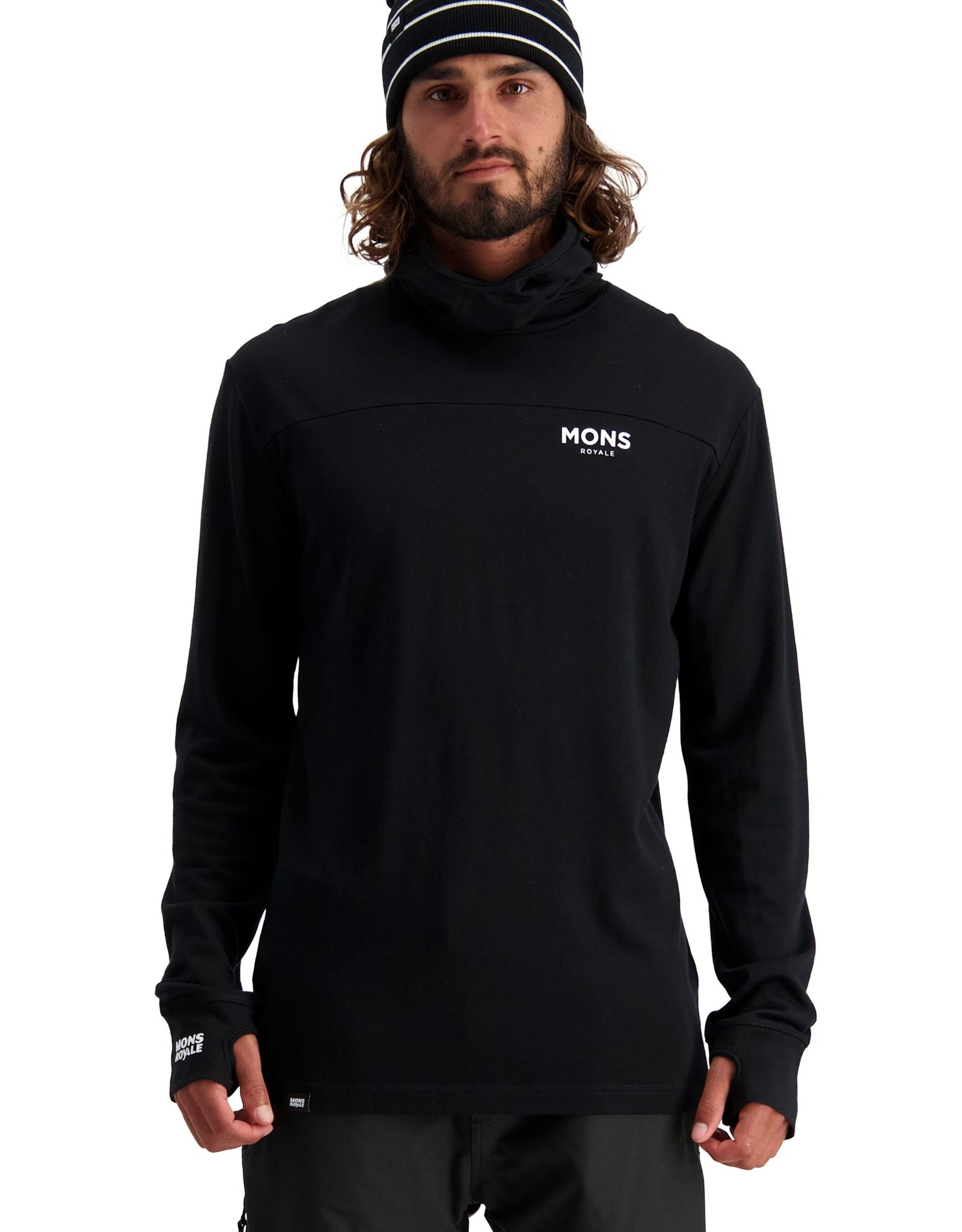 Mons Royale Mons Royale Yotei Powder Hood LS-Men's -W2020
