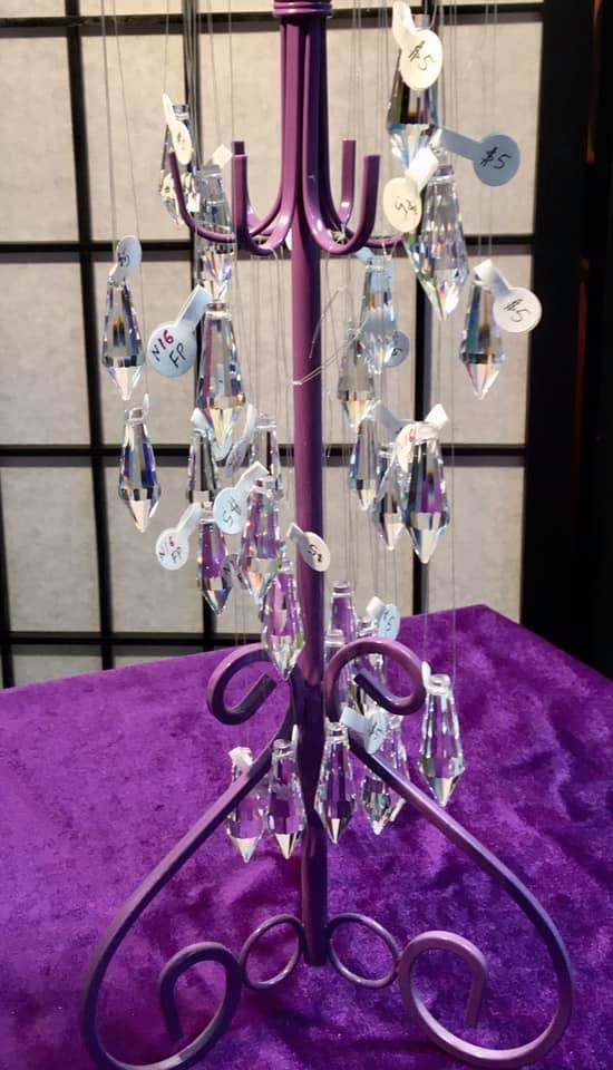 CLEAR 16 FACETED POINT FENG SHUI CRYSTAL