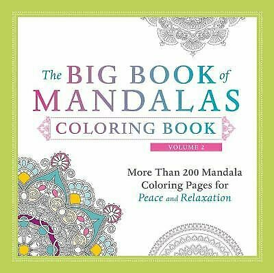 BIG BOOK OF MANDALAS COLORING BOOK VOL 2 BY ADAMS MEDIA
