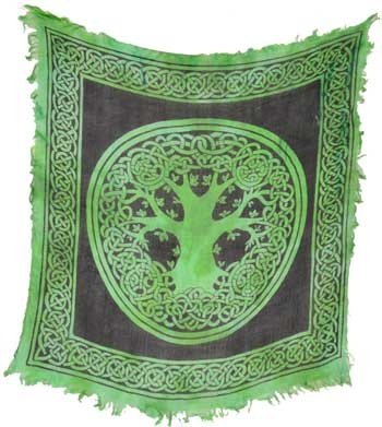 ALTAR CLOTH 18x18 TREE OF LIFE
