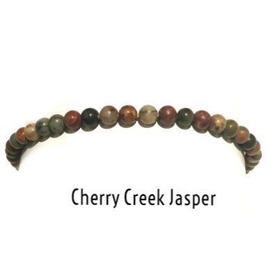 PREMIERE POWER MINI 4MM BRACELET -CHERRY CREEK JASPER
