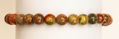 BRACELET POWER SIX -  UNAKITE JASPER 6MM