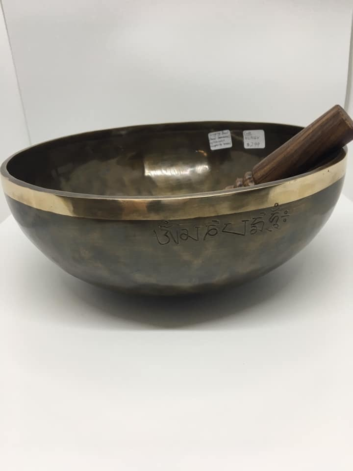 SINGING BOWL  - HAND HAMMERED WITH CHINESE LONGEVITY SYMBOLS