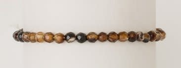 BRACELET POWER MINI -  4MM BROWN AGATE