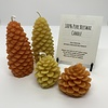 CANDLE - BEESWAX LARGE PINE CONES