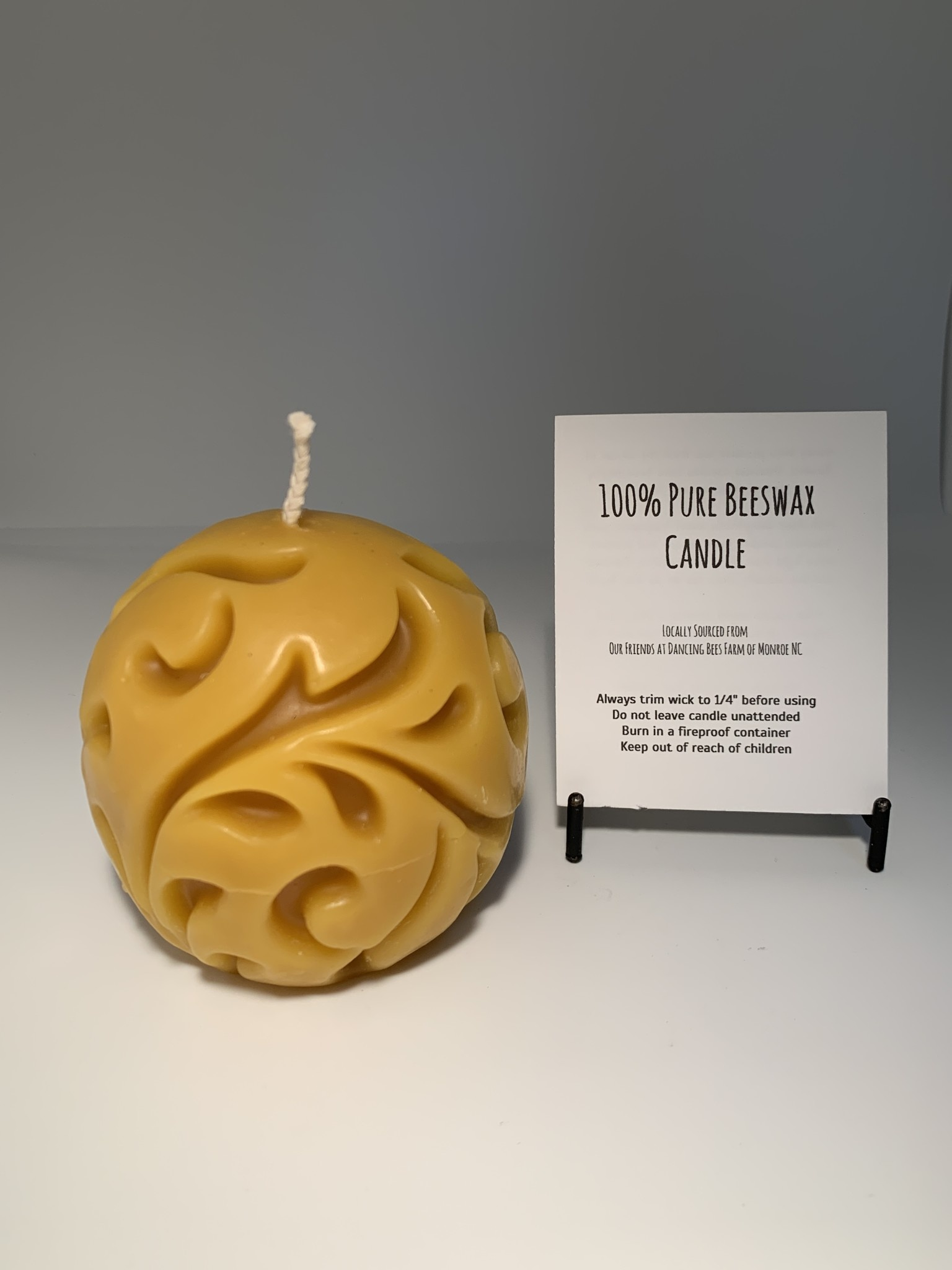 CANDLE -  BEESWAX CAST BALL
