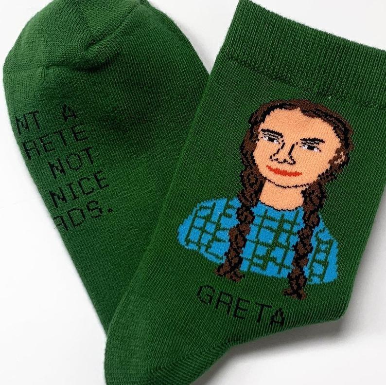 SOCKS GRETA THUNBERG GREEN