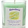 VOTIVE CANDLE IN GLASS -  ABUNDANCE