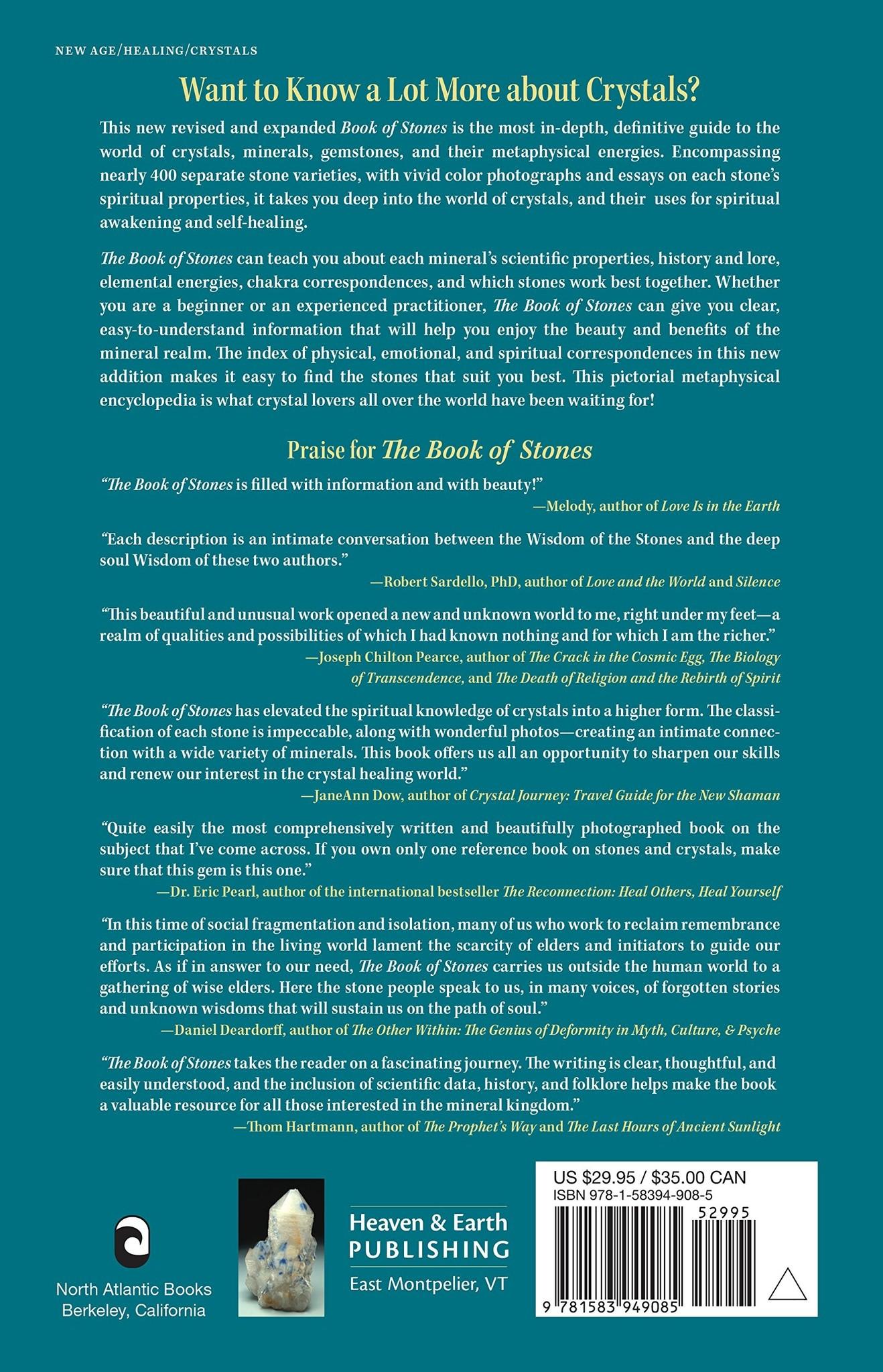 BOOK OF STONES BY ROBERT SIMMONS - PBK