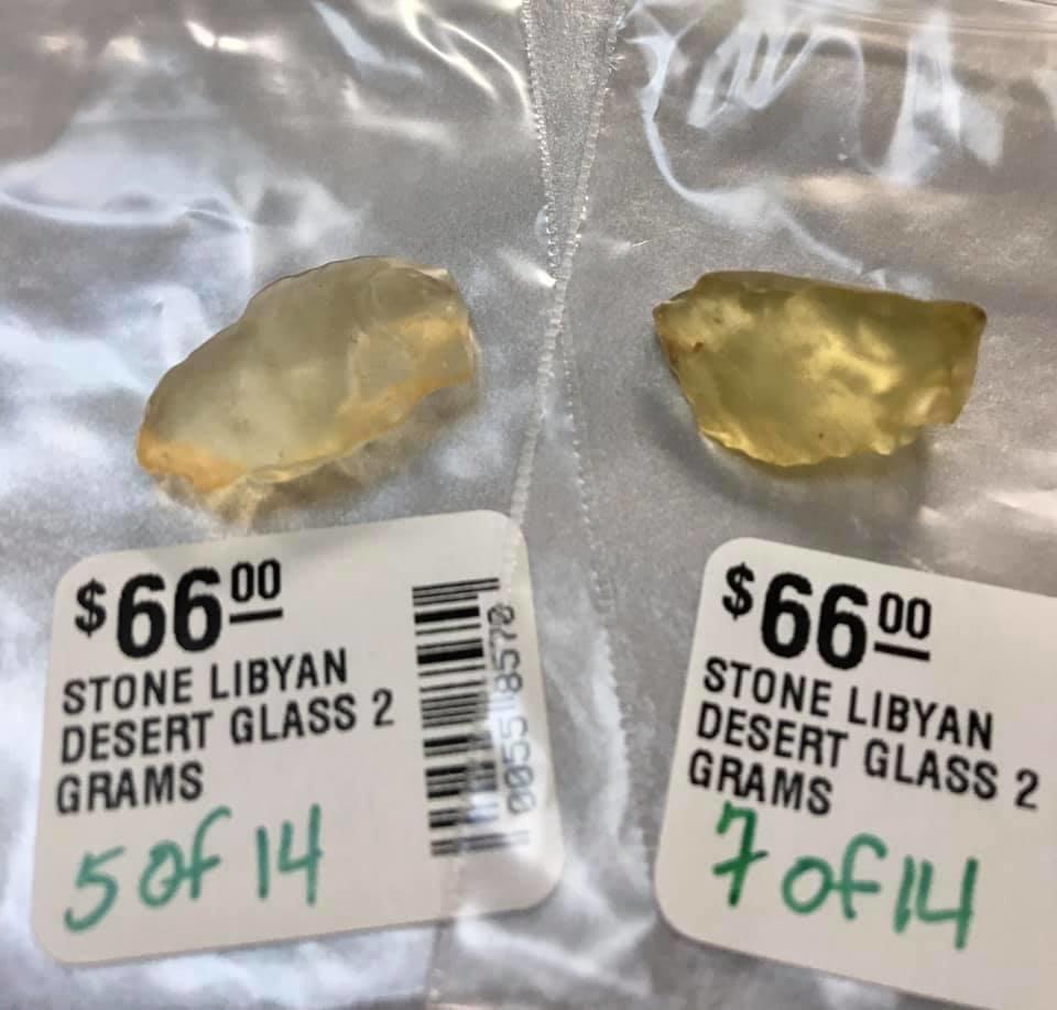 STONE LIBYAN DESERT GLASS  (2 GRAMS)