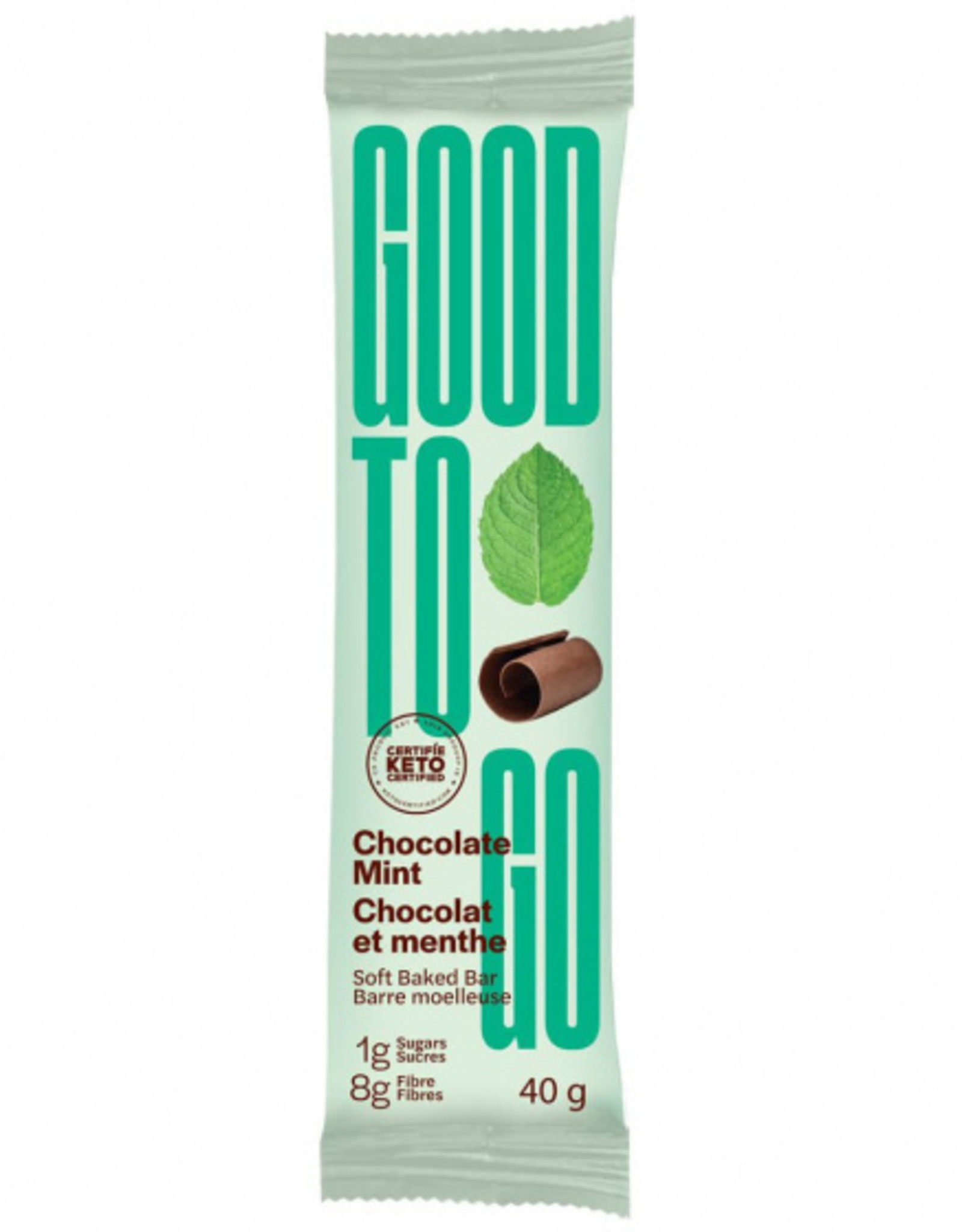 Good To Go Good To Go - Keto Bar, Chocolate Mint (40g)