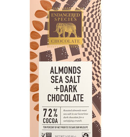 Endangered Species Endangered Species - Dark Chocolate Bar, Owl Sea Salt & Almonds