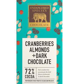 Endangered Species Endangered Species - Dark Chocolate Bar, Wolf Cranberries & Almonds