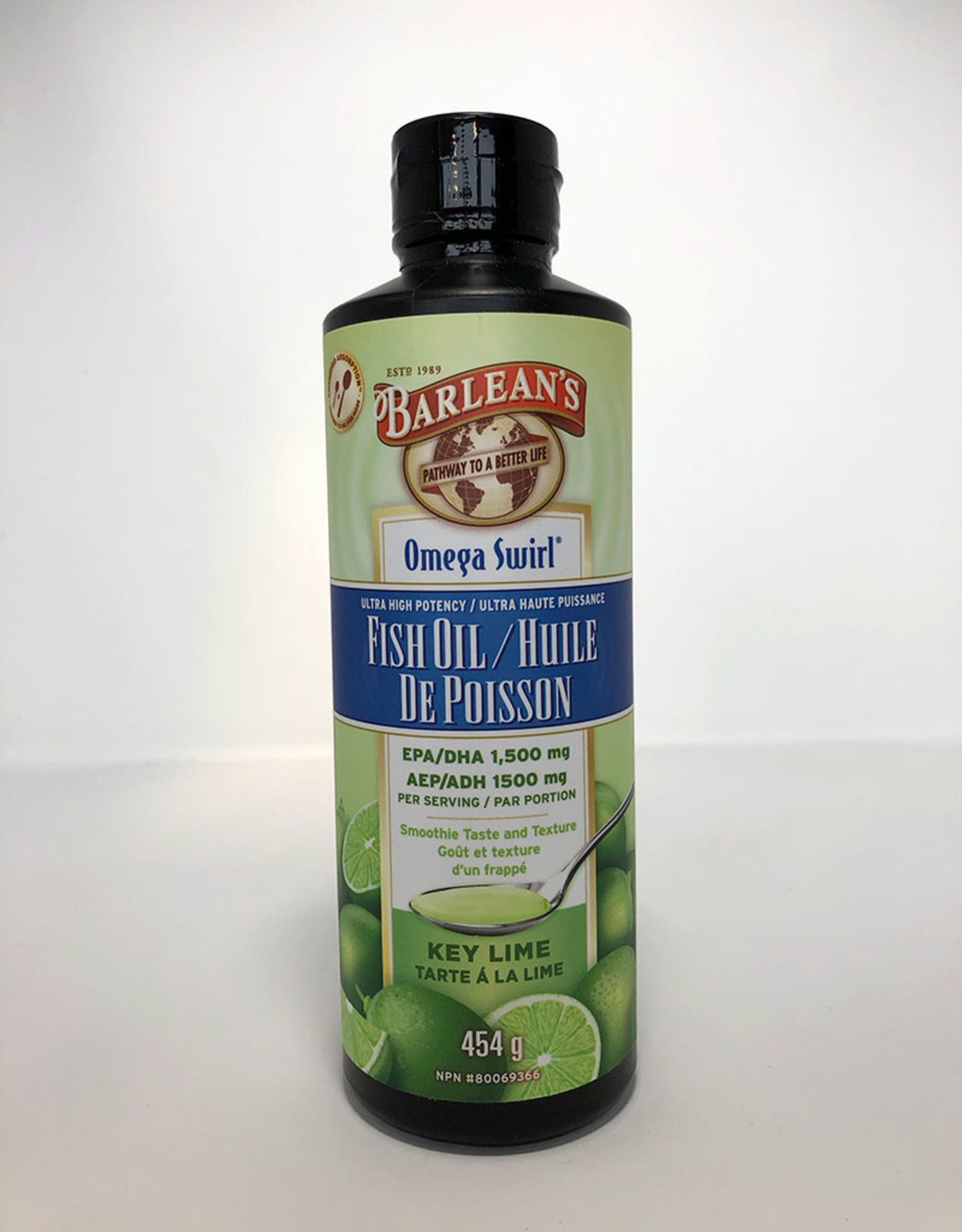 Barlean's Barleans - High Potency Omega-3 Fish Oil, Key Lime (454ml)