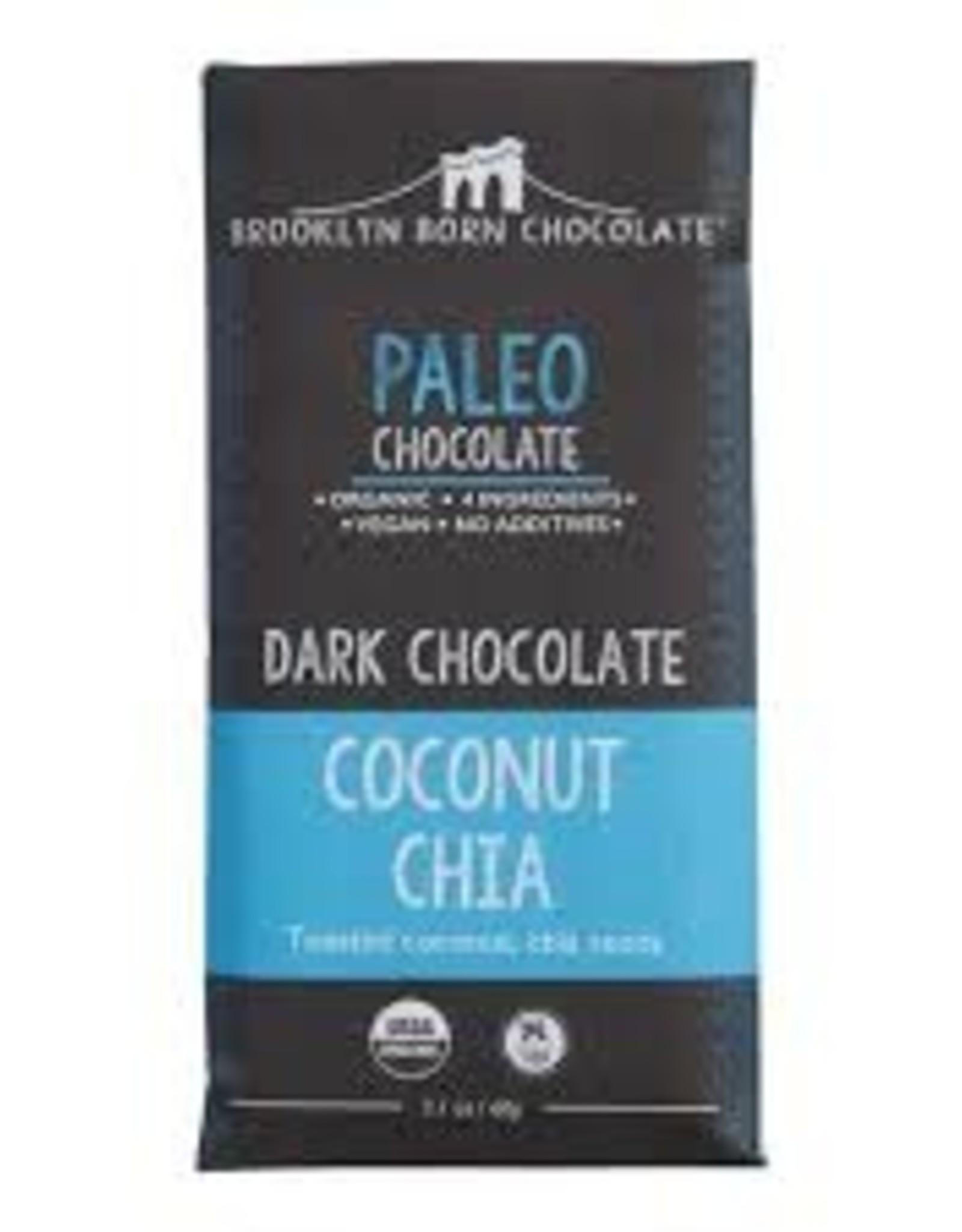 Brooklyn Born Chocolate Brooklyn Born Chocolate - Paleo Bar, Coconut Chia (60g)