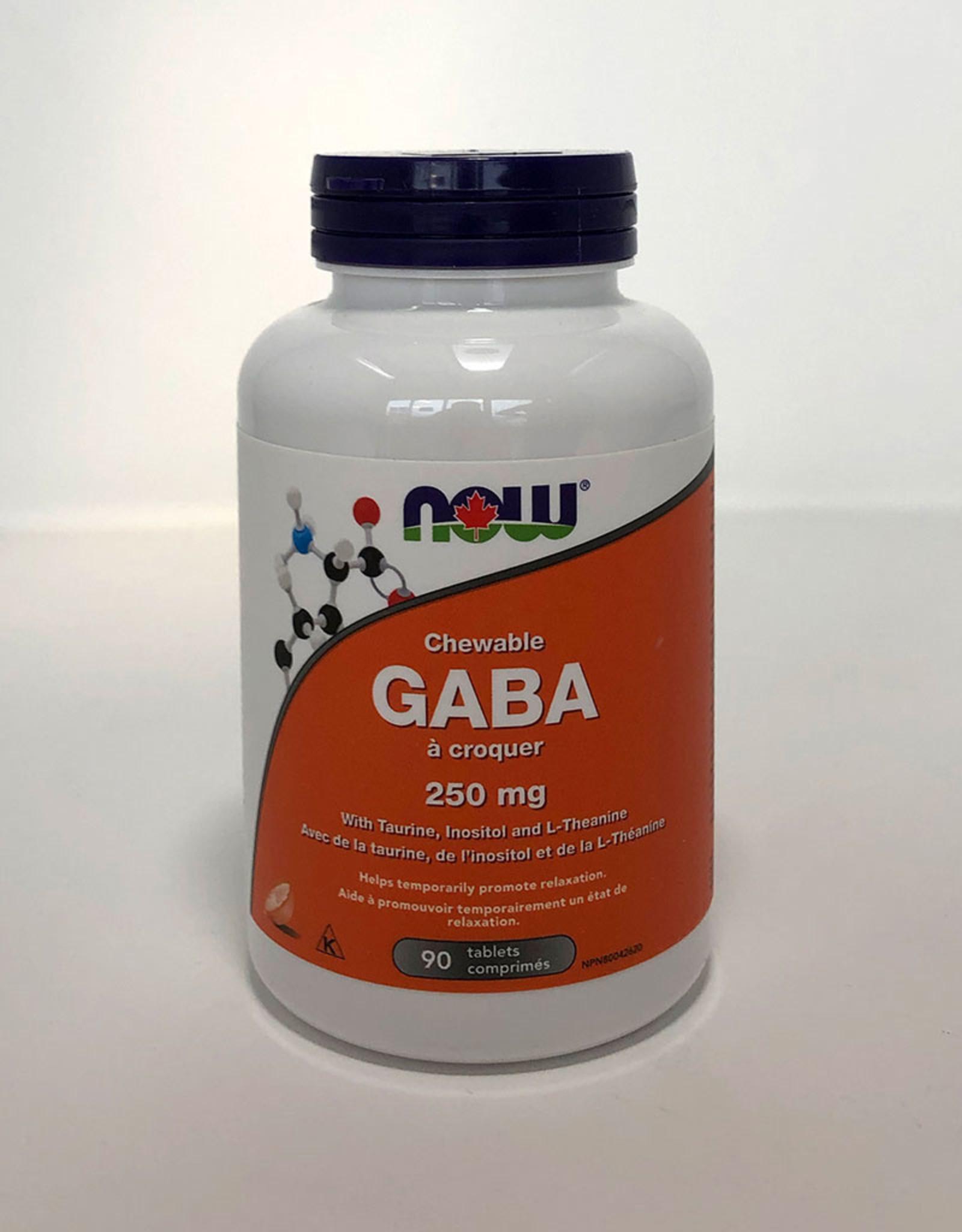 NOW Foods NOW Foods - GABA 250mg chewable (90tabs)