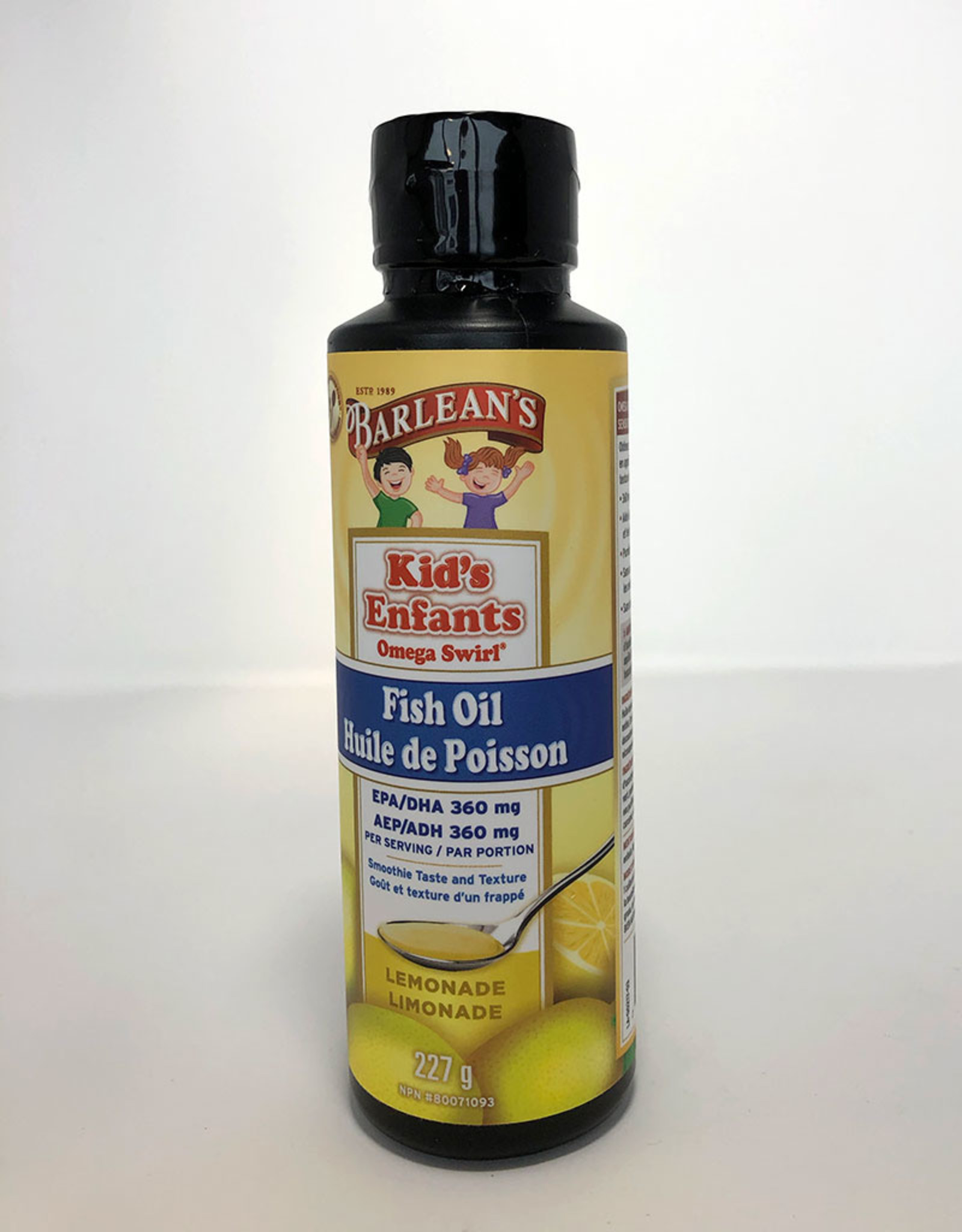 Barlean's Barleans - Omega-3 Fish Oil, Kids Lemonade (227g)