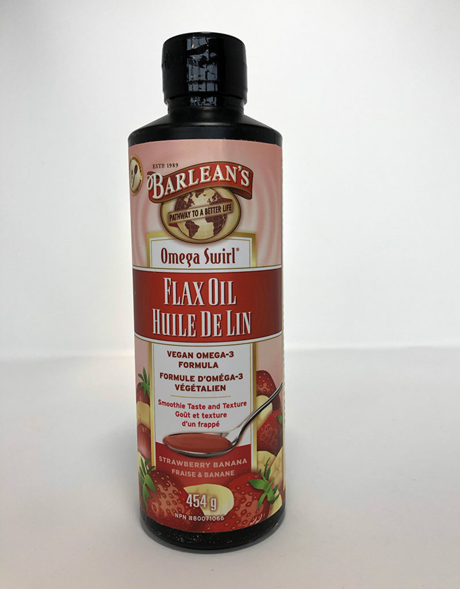 Barlean's Barleans - Omega-3 Flax, Strawberry Banana Smoothie (454ml)