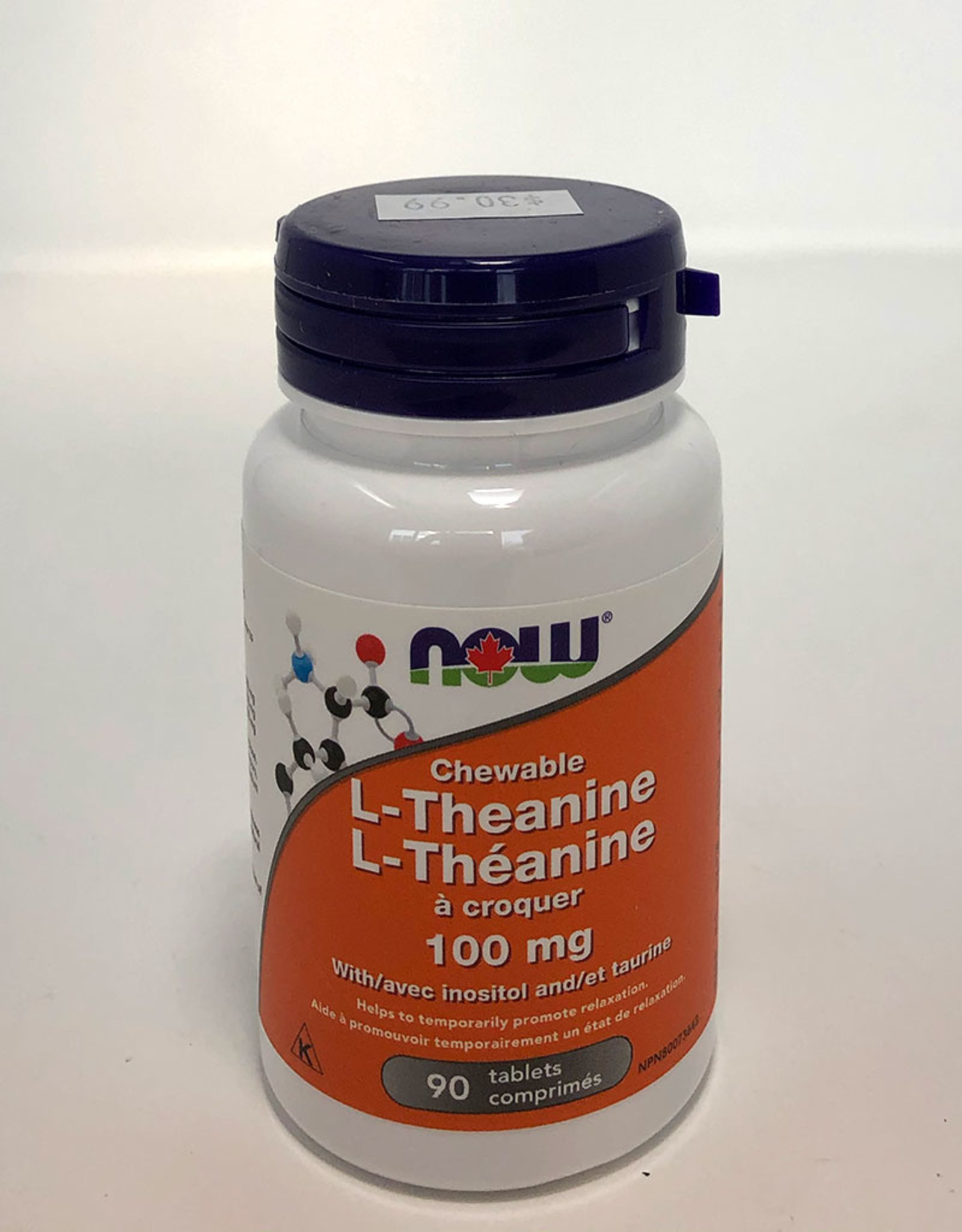 NOW Foods NOW Foods - L-Theanine 100mg Plus, Chewable (90tabs)