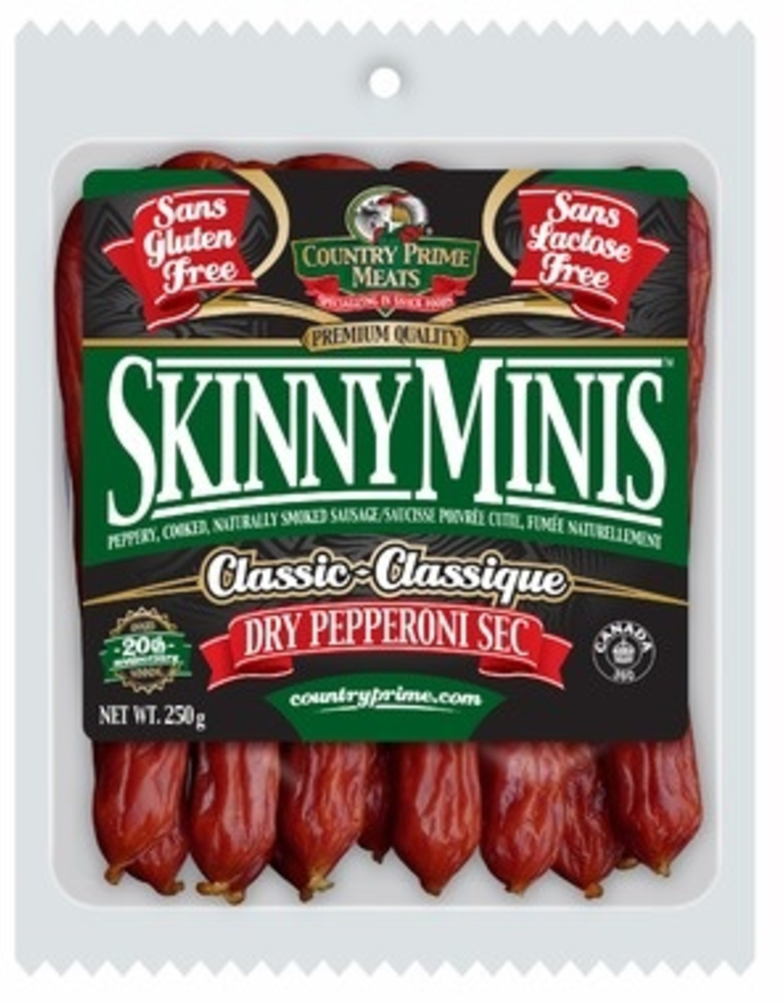 Country Prime Meats Country Prime Meats - Skinny Minis, Classic (250g)