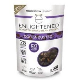 Enlightened Enlightened - Roasted Broad Bean Crisps, Cocoa Dusted