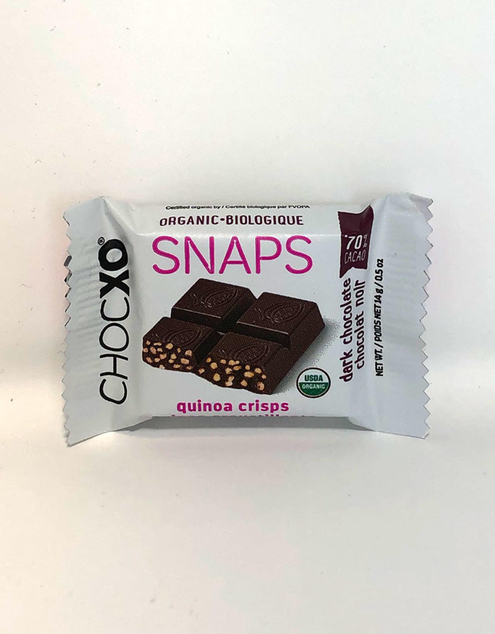 ChocXO ChocXO - Organic 70% Dark Chocolate Quinoa Snaps (14g)