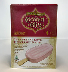 Coconut Bliss Coconut Bliss - Ice Cream Bars, Strawberry Love (Box of 4)