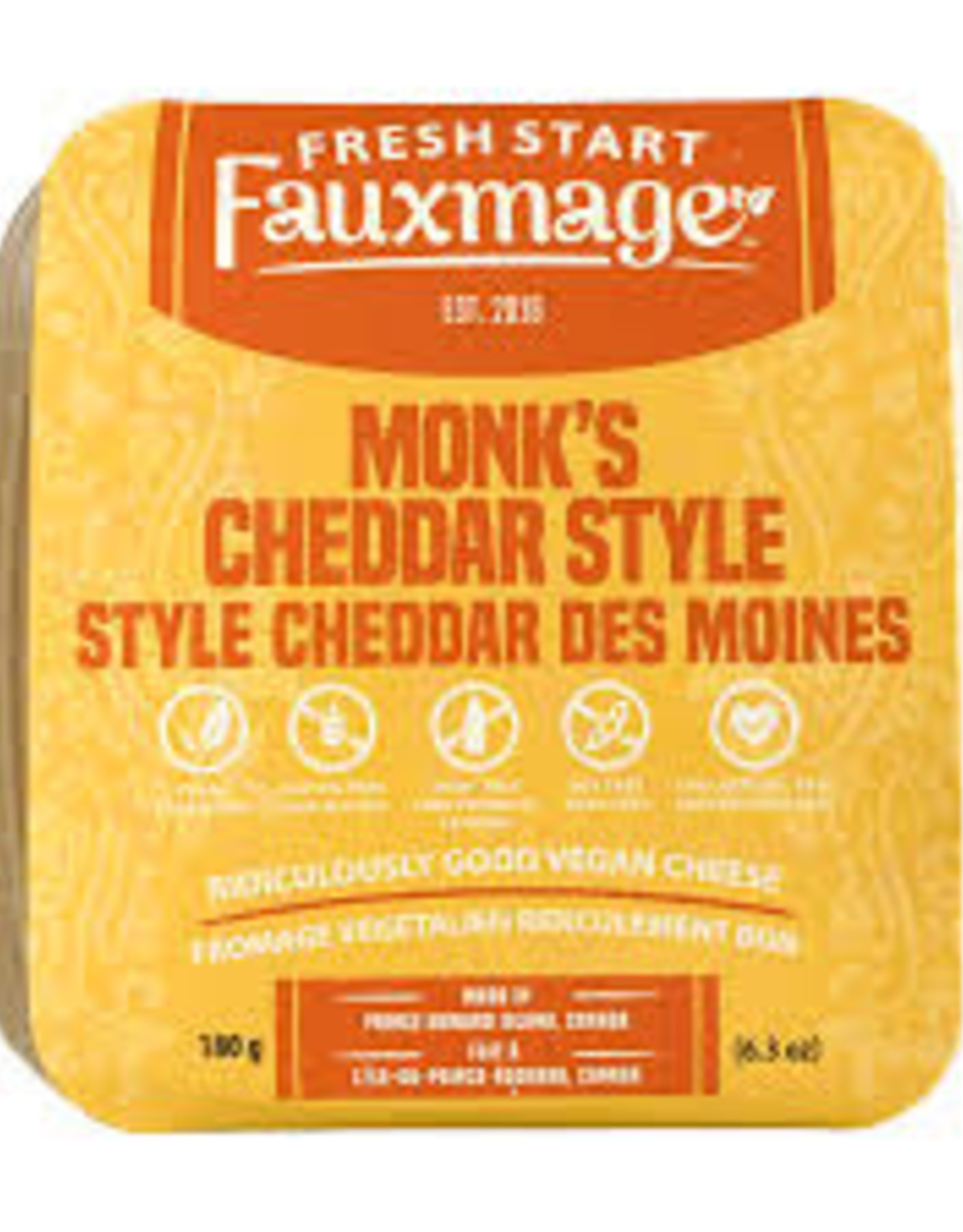 Fresh Start Fauxmage Fresh Start Fauxmage - Monks Cheddar (180g)