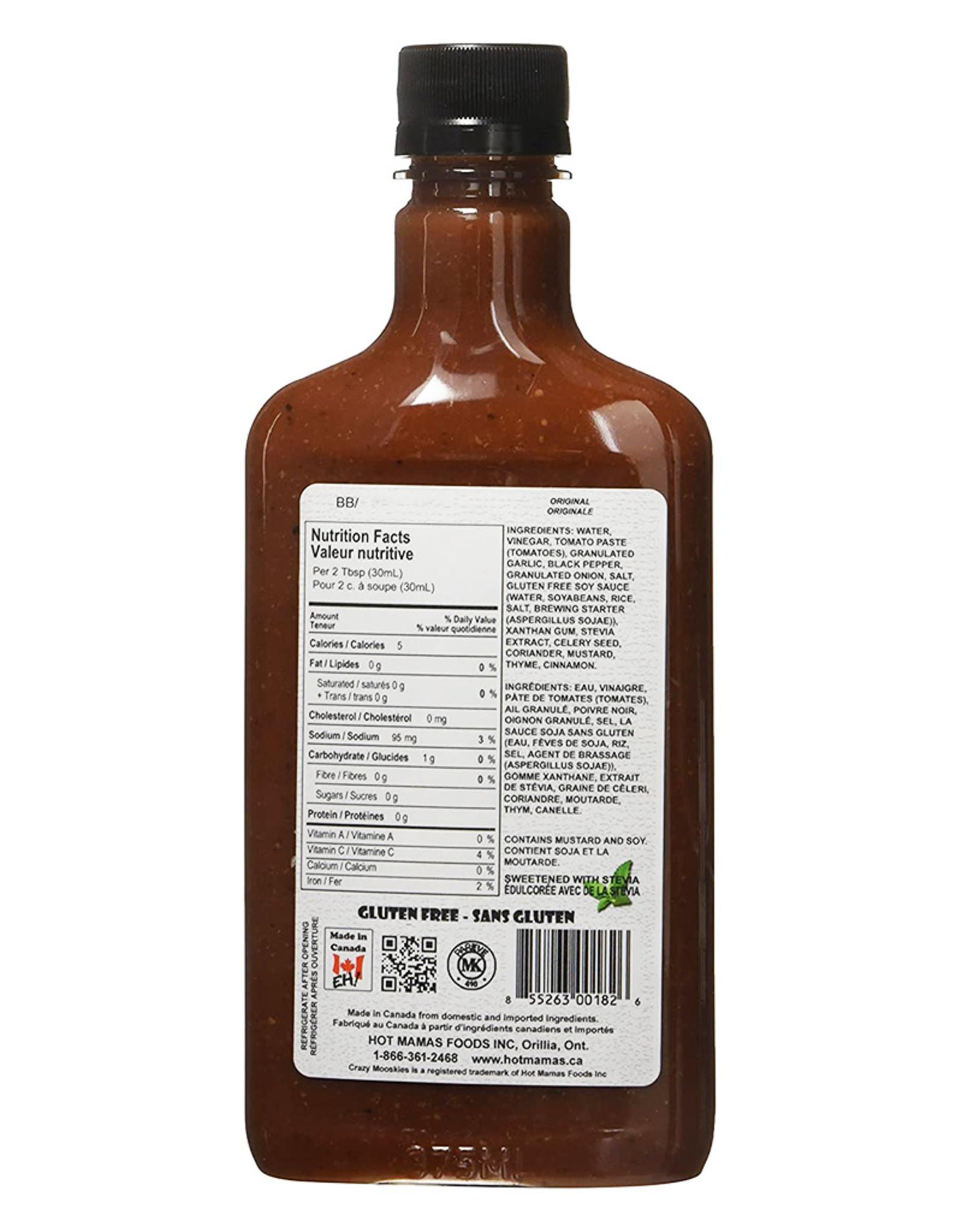 Crazy Mooskies Crazy Mooskies - No Sugar Added BBQ Sauce, Original (375ml)