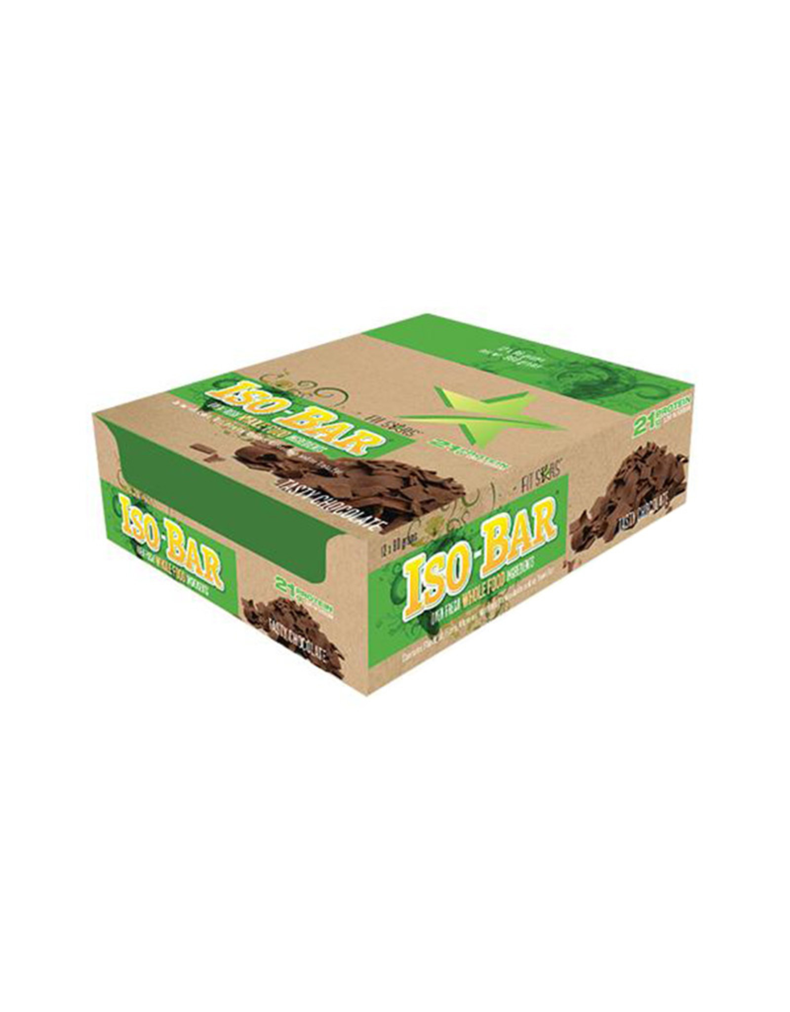 Fit Stars Products Inc. Fit Stars - Iso-Bar, Tasty Chocolate (Box of 12)