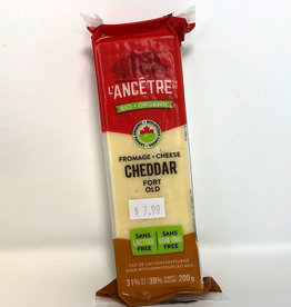 L'Ancetre LAncetre - Organic Raw Unpasturized Cheese, Old Cheddar (200g)