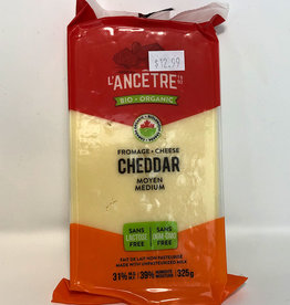 L'Ancetre LAncetre - Organic Raw Unpasturized Cheese, Medium Cheddar (325g)