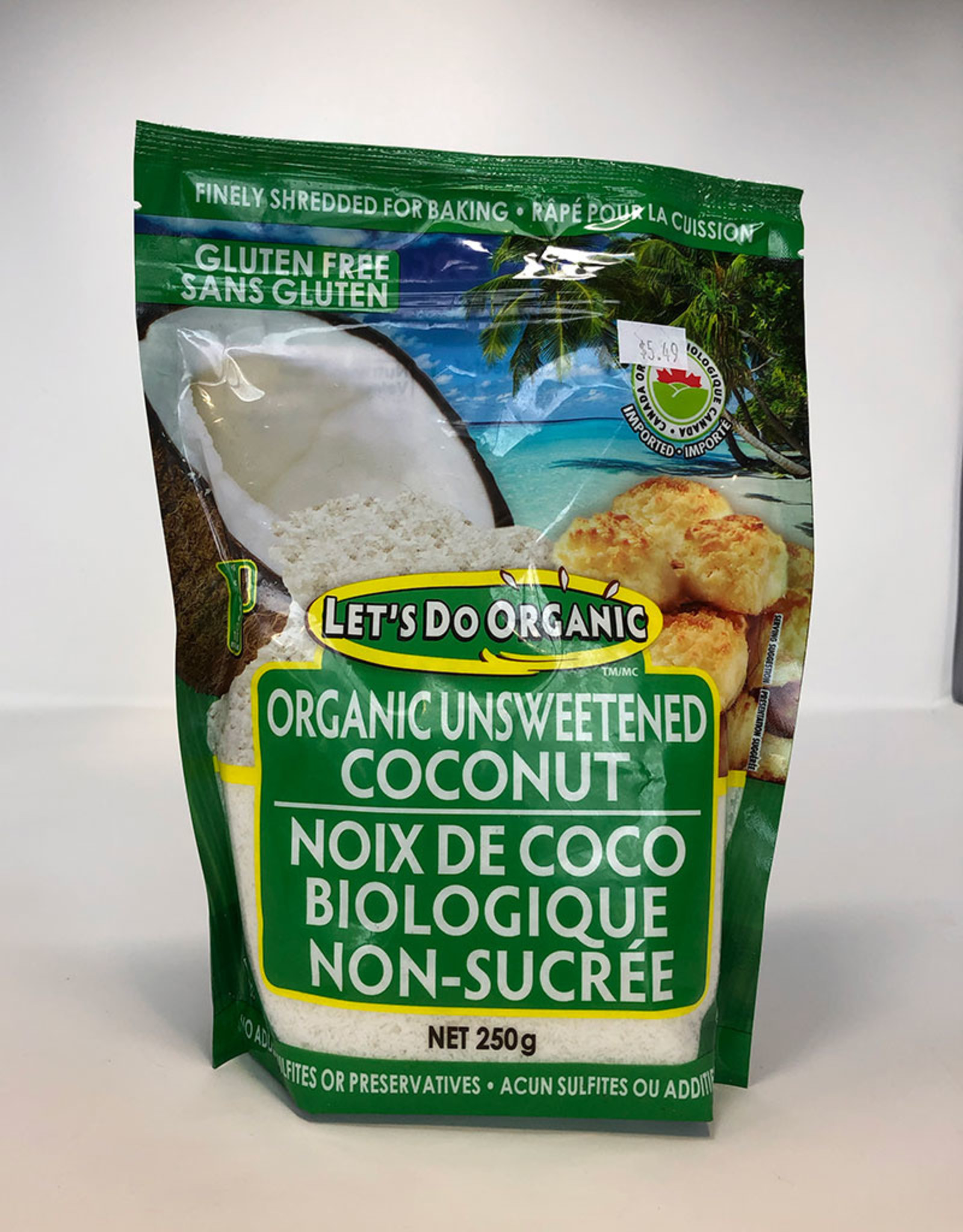 Let's Do Lets Do - Organic Unsweetened Shredded Coconut