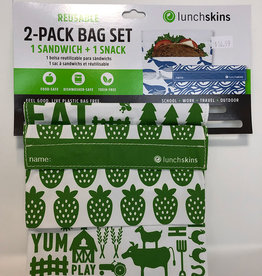 lunchskins Lunchskins - Reusable Bag Set, Velcro Farm (2pk)