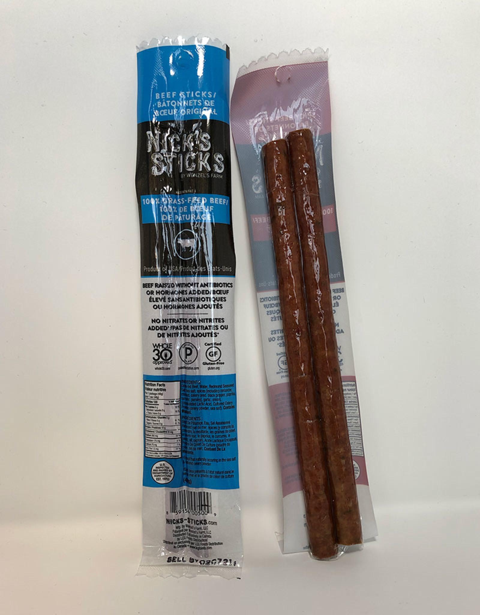 Nick's Sticks Nicks Sticks - Grass Fed Beef Snack Sticks, Original