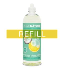 Purenature Purenature - Dish & Hand Liquid, Lemon & Mint - REFILL