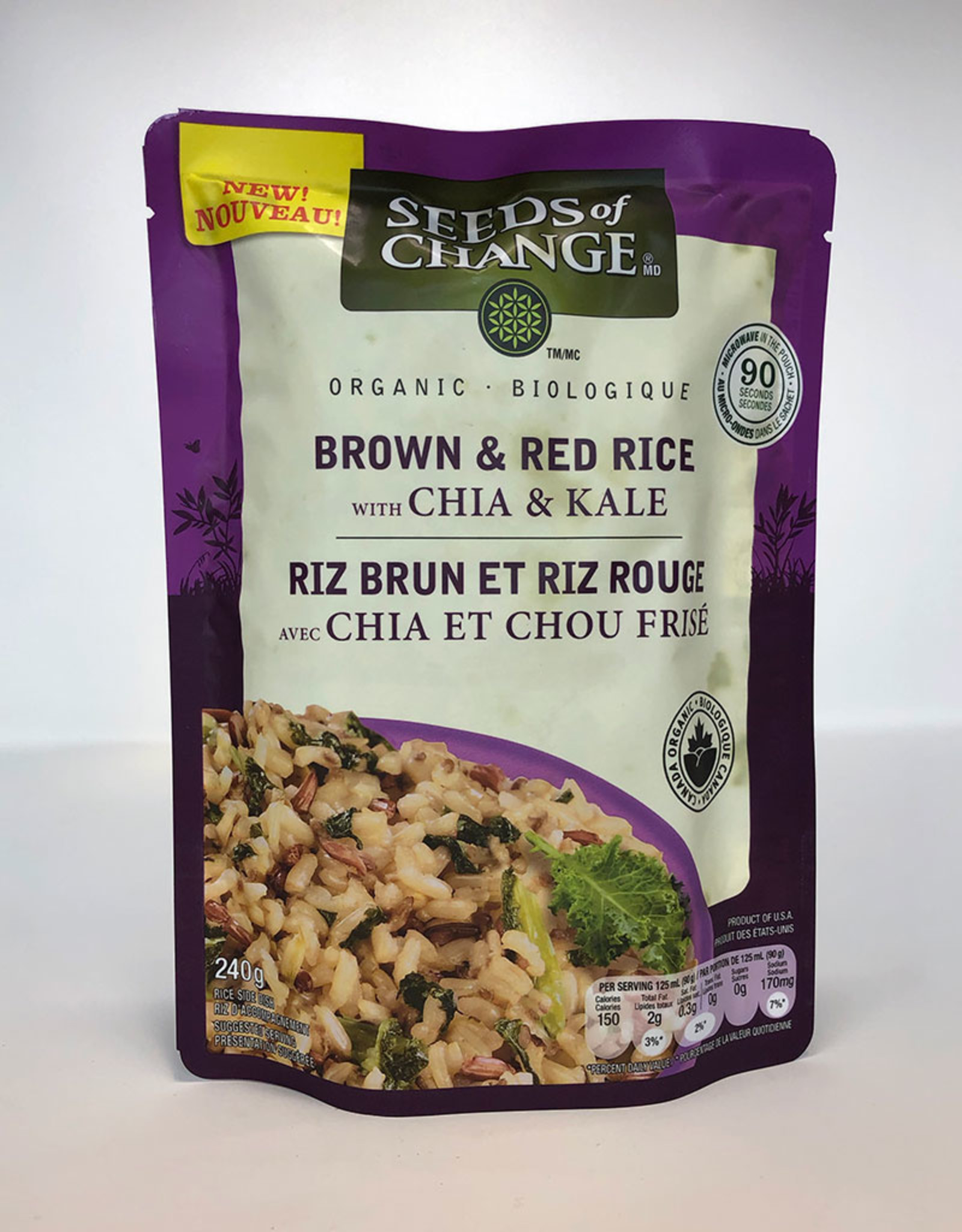 Seeds of Change Seeds of Change - Org. Rice Mix, Brown & Red Rice with Chia & Kale