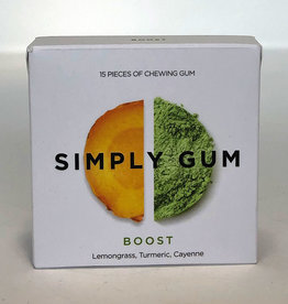 Simply Gum Simply Gum - Boost, Lemongrass, Turmeric, Cayenne