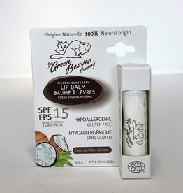 Green Beaver Green Beaver - Lip Balm, Coconut SPF 15