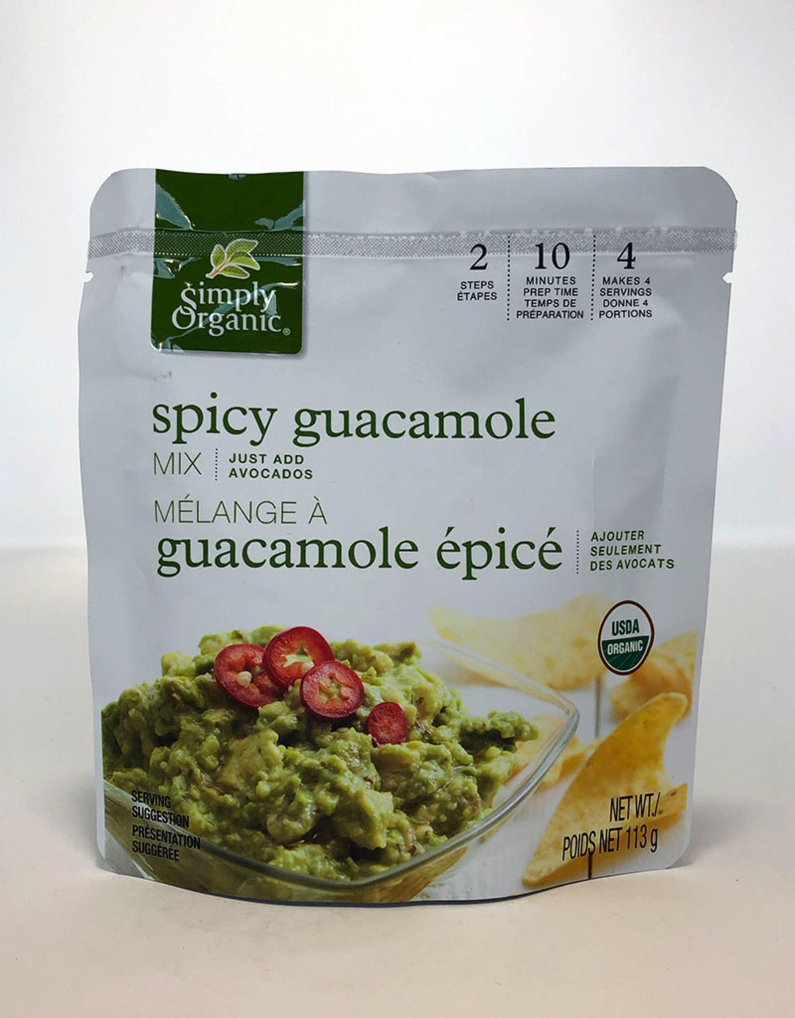 Simlpy Organic Simply Organic - Guacamole Mix, Spicy (Pouch)