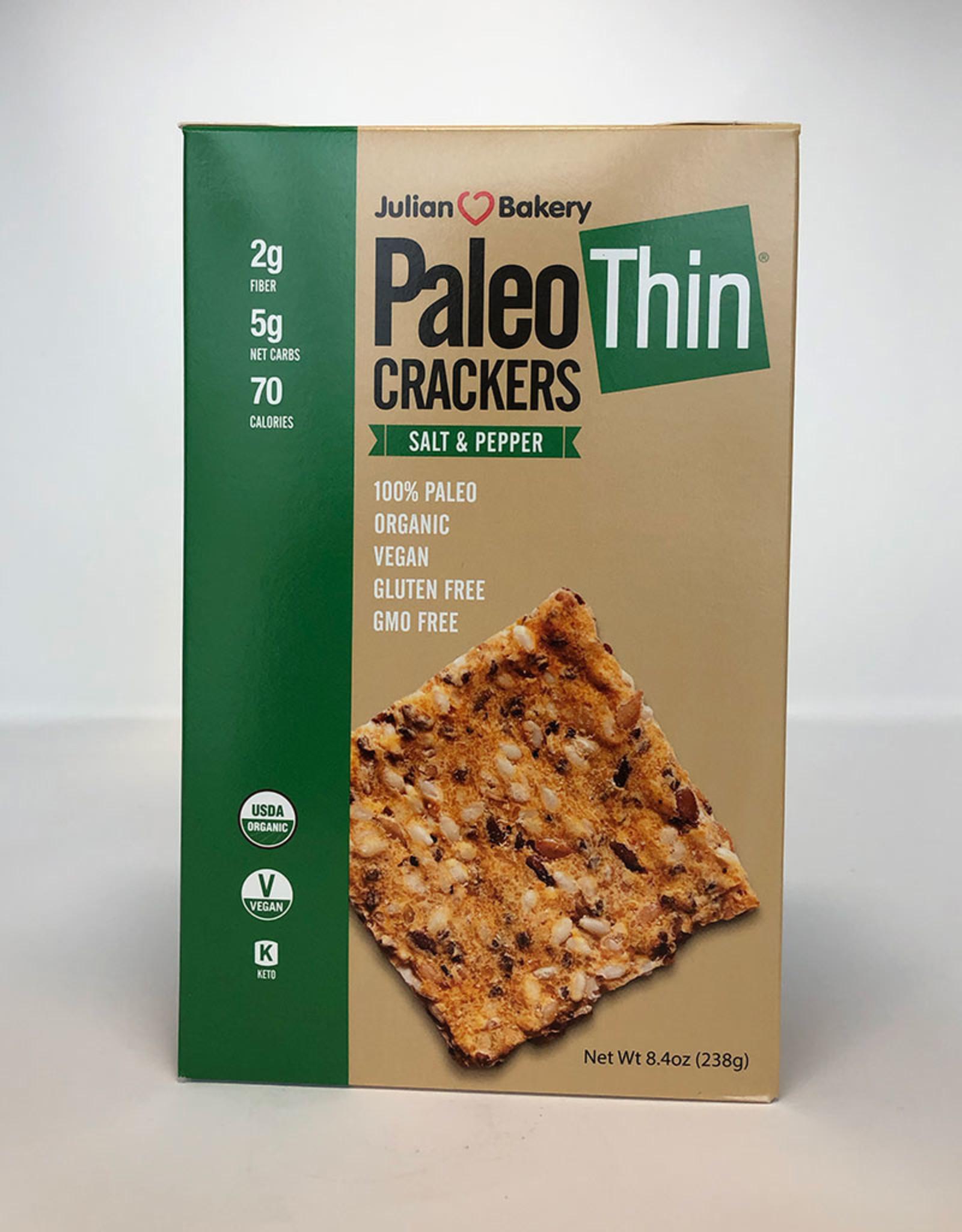 Julian Bakery Julian Bakery - Paleo Thin Crackers, Salt and Pepper