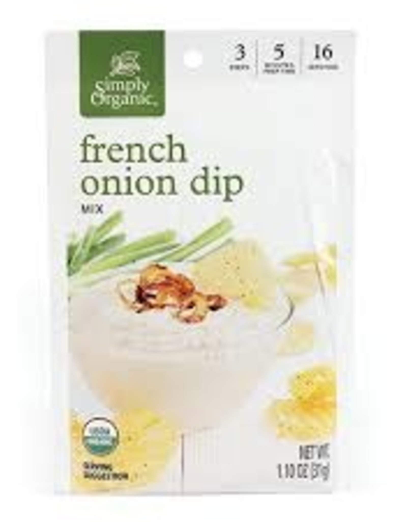 Simlpy Organic Simply Organic - Seasoning Mix, French Onion Dip