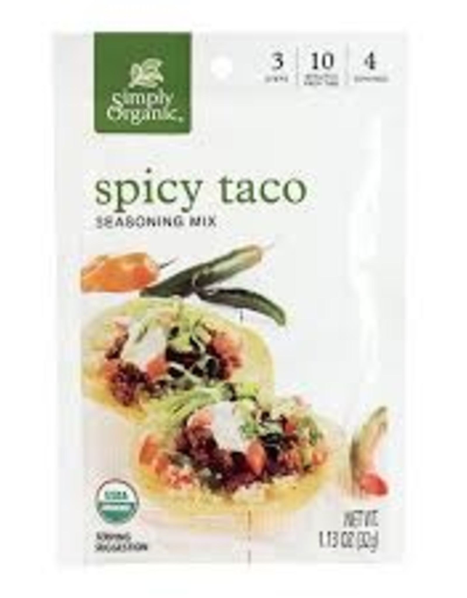 Simlpy Organic Simply Organic - Seasoning Mix, Spicy Taco