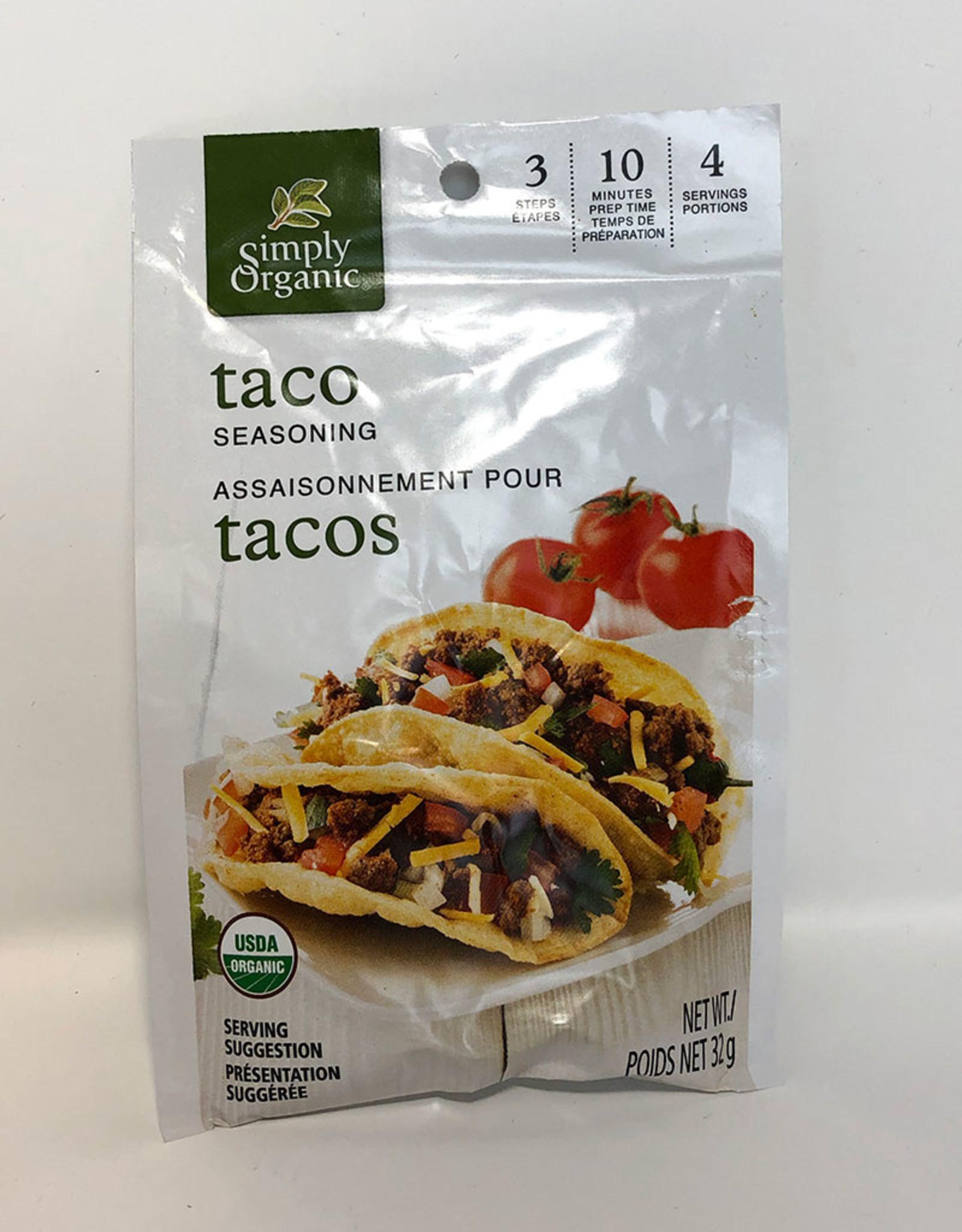 Simlpy Organic Simply Organic - Seasoning Mix, Taco