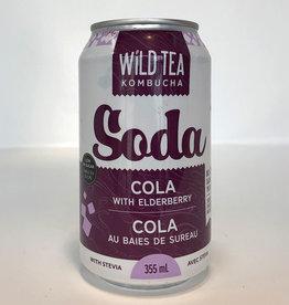 Wild Tea Kombucha Wild Tea Kombucha - Soda, Cola with Elderberry